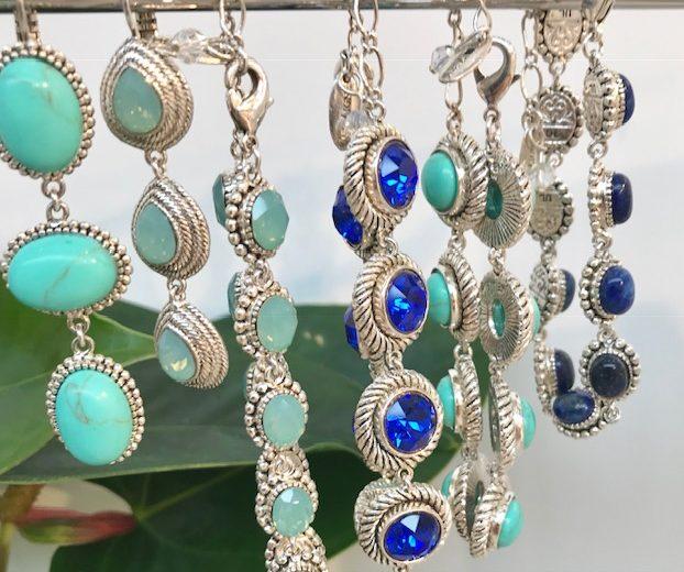 Silberarmband blau